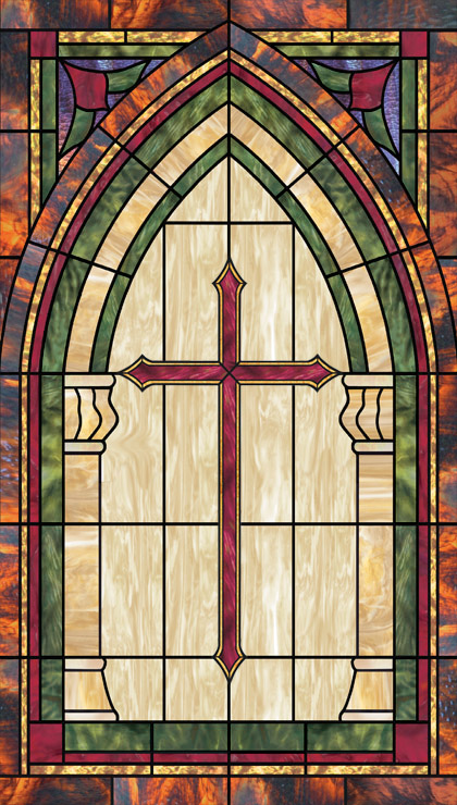 church decorative window film design IN-9