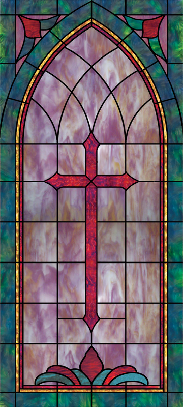 Optional Diamonds Church Window Film Design IN2
