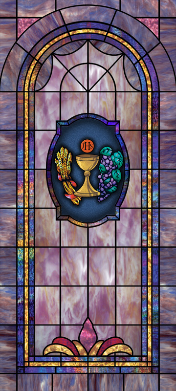 decorative church window film design IN6