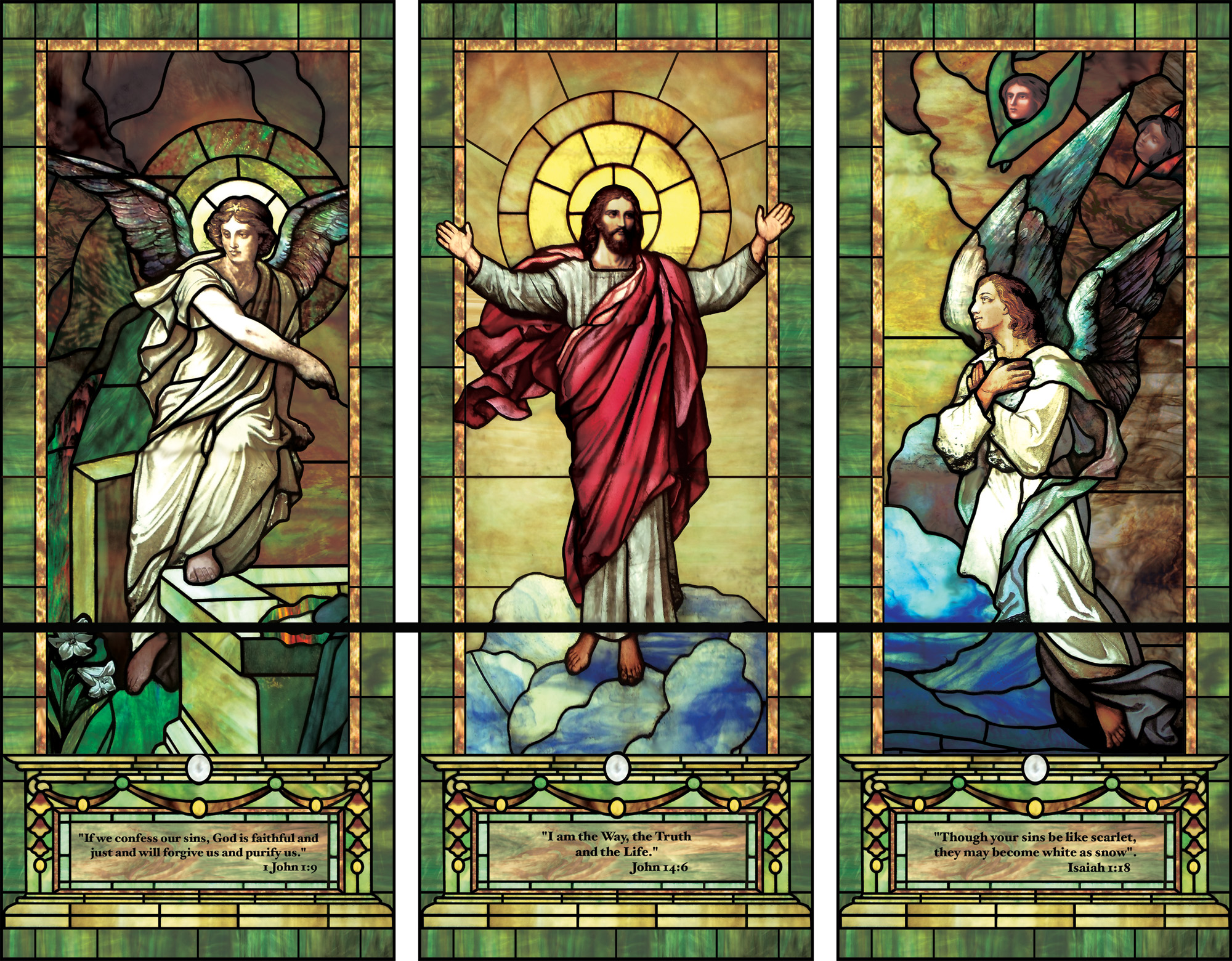 illuminado window film | decorative window film, church designs