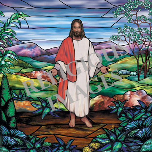 Jesus decorative window film