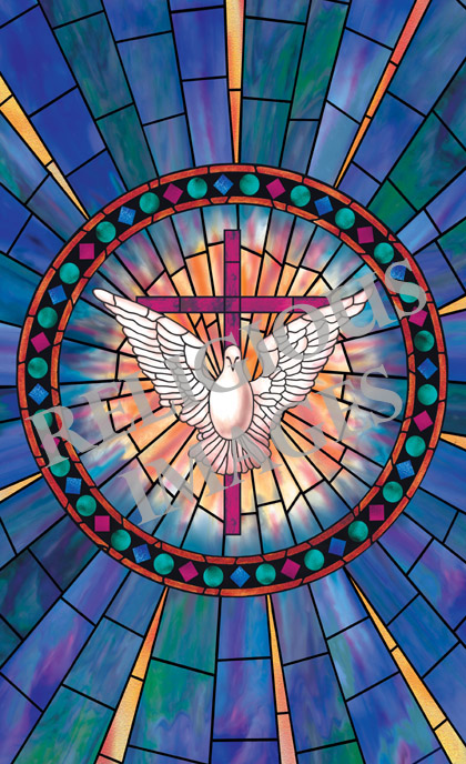 Radiant Dove stained glass window film