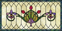 home decorative stained glass window film IH-24