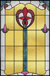 stained glass window cling design IH-26